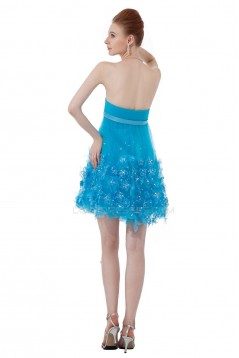 A-Line Strapless Short Beaded Prom Evening Formal Party Dresses ED010290
