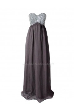 Empire Long Beaded Chiffon Prom Evening Formal Party Dresses ED010294
