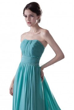 A-Line Strapless Long Chiffon Prom Evening Formal Party Dresses ED010298