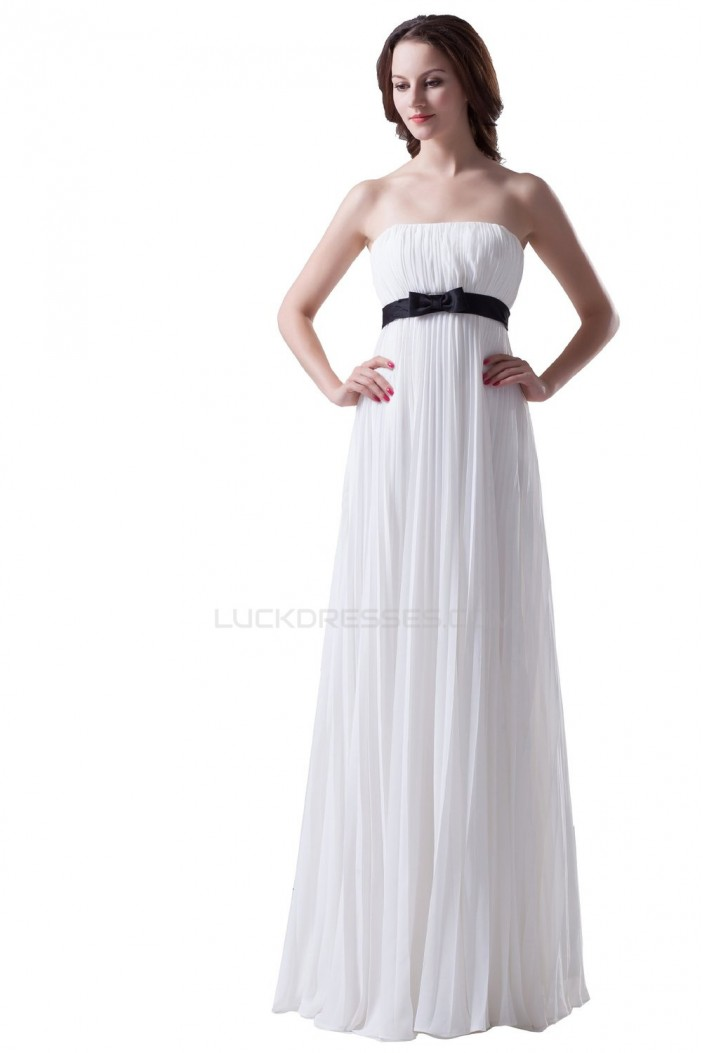 Empire Strapless Pleated Long Chiffon Prom Evening Formal Party Dresses/Maternity Evening Dresses ED010300