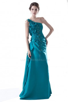 A-Line One-Shoulder Beaded Long Prom Evening Formal Party Dresses ED010301