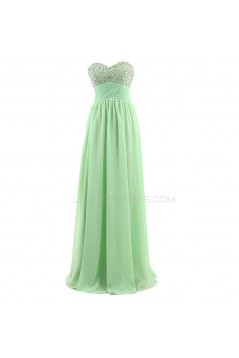 A-Line Sweetheart Beaded Long Chiffon Prom Evening Formal Party Dresses ED010302