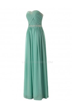 A-Line Sweetheart Beaded Long Chiffon Prom Evening Formal Party Dresses ED010306