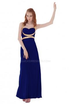 Long Blue Chiffon Prom Evening Formal Party Dresses ED010307