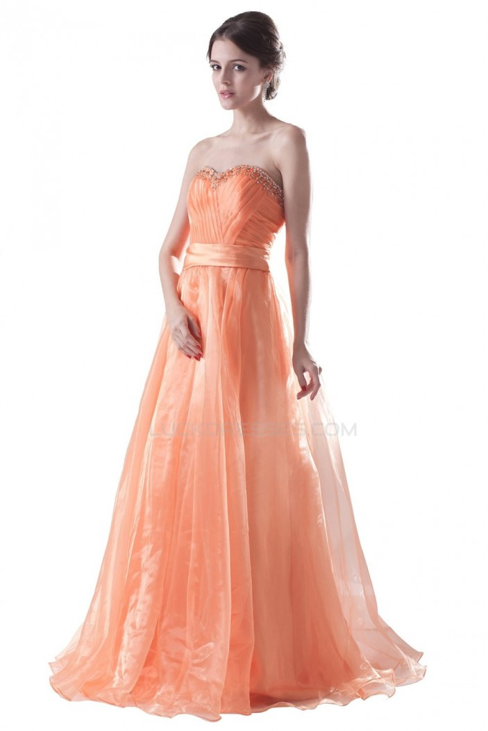 A-Line Sweetheart Beaded Long Prom Evening Formal Party Dresses ED010309