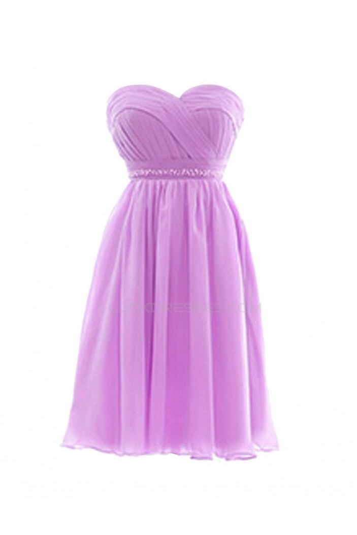 A-Line Sweetheart Short Chiffon Prom Evening Formal Party Dresses ED010311