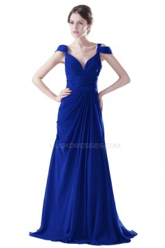 Long Blue Chiffon Prom Evening Formal Party Dresses ED010325