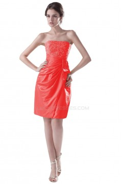 Strapless Short Beaded Prom Evening Formal Party Dresses ED010326