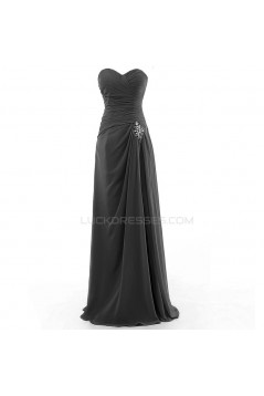 Long Beaded Sweetheart Chiffon Prom Evening Formal Party Dresses ED010328