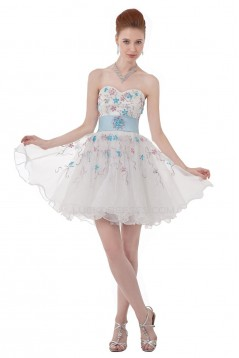 A-Line Sweetheart Beaded Short Prom Evening Formal Party Dresses ED010330