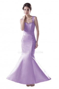 Trumpet/Mermaid Long Purple Applique Prom Evening Formal Party Dresses ED010333