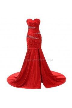 Trumpet/Mermaid Sweetheart Long Red Prom Evening Formal Party Dresses ED010337