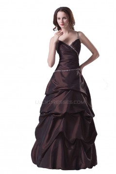 Ball Gown Spaghetti Strap Long Prom Evening Formal Party Dresses ED010339
