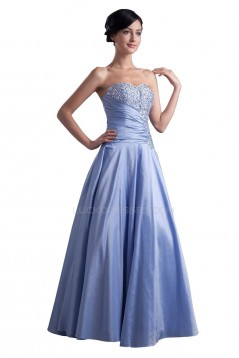 A-Line Sweetheart Long Beaded Prom Evening Formal Party Dresses ED010343