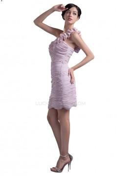 Short One-Shoulder Prom Evening Formal Party Dresses ED010347