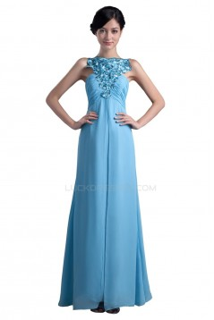 Long Blue Chiffon Prom Evening Formal Party Dresses ED010351