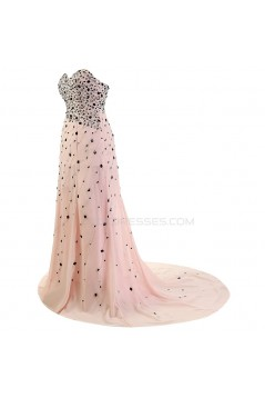 A-Line Sweetheart Long Beaded Chiffon Prom Evening Formal Party Dresses ED010353