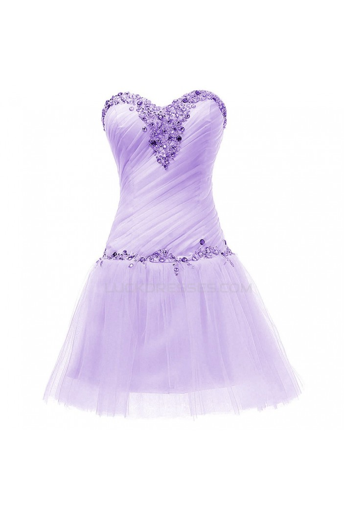 Short Sweetheart Beaded Purple Prom Evening Formal Party Dresses ED010357