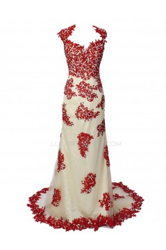 Trumpet/Mermaid Beaded Long Prom Evening Formal Party Dresses ED010360