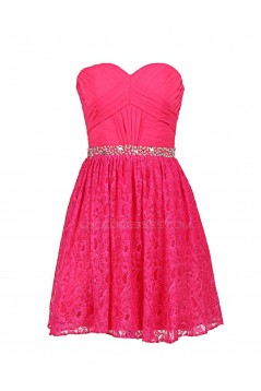 A-Line Sweetheart Beaded Chiffon and Lace Prom Evening Formal Party Dresses ED010362