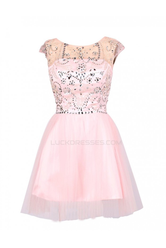 A-Line Beaded Short Prom Evening Formal Party Dresses ED010380