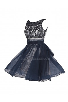 A-Line Beaded Short Prom Evening Formal Party Dresses ED010381