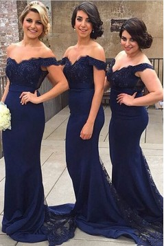 Mermaid Off-the-Shoulder Lace Long Prom Evening Formal Party Dresses ED010382