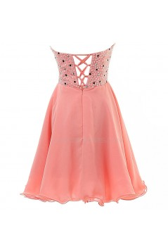 A-Line Sweetheart Short Beaded Chiffon Prom Evening Formal Party Dresses ED010383