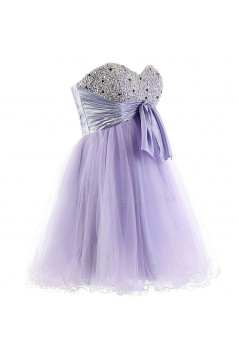 A-Line Sweetheart Beaded Short Prom Evening Formal Party Dresses ED010387