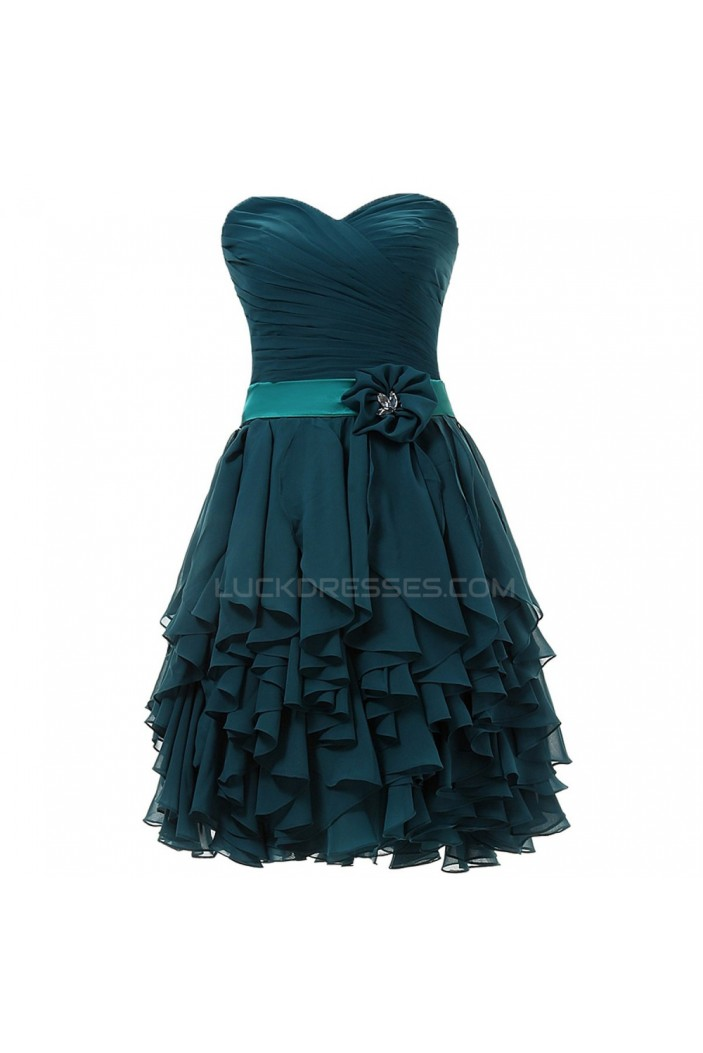 A-Line Sweetheart Short Chiffon Prom Evening Formal Party Dresses ED010389