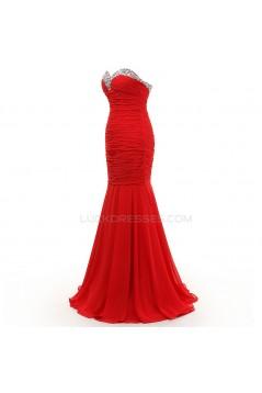 Trumpet/Mermaid Sweetheart Long Black Chiffon Prom Evening Formal Party Dresses ED010392
