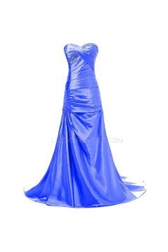 Trumpet/Mermaid Sweetheart Long Beaded Prom Evening Formal Party Dresses ED010394