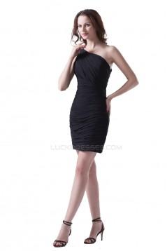 One-Shoulder Short White Prom Evening Formal Party Dresses ED010397