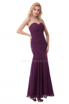 Sweetheart Long Chiffon Prom Evening Formal Party Dresses ED010406