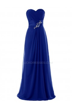 A-Line Sweetheart Long Red Chiffon Prom Evening Formal Party Dresses ED010424
