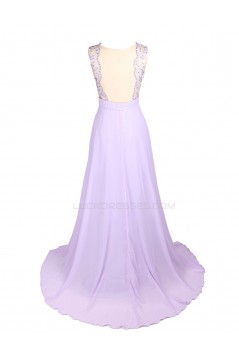 A-Line Beaded Long Chiffon Prom Evening Formal Party Dresses ED010450
