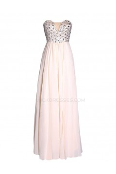 A-Line Sweetheart Beaded Long Chiffon Prom Evening Formal Party Dresses ED010451