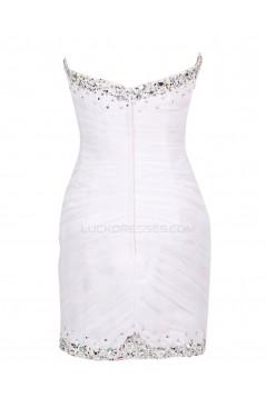 Beaded Short Chiffon Prom Evening Formal Party Dresses ED010454