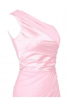 One-Shoulder Short Pink Prom Evening Formal Party Dresses ED010464