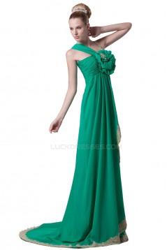 Empire Long Green Chiffon Prom Evening Formal Party Dresses/Maternity Evening Dresses ED010467