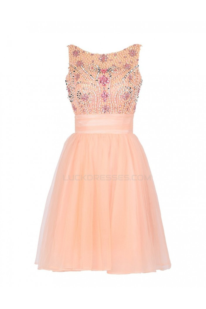A-Line Beaded Short Prom Evening Formal Party Dresses ED010470
