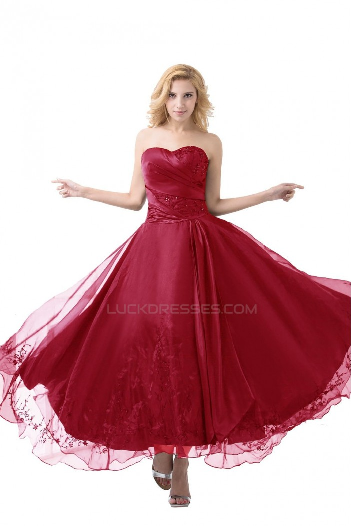 A-Line Long Red Prom Evening Formal Party Dresses ED010479