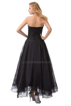 A-Line Long Black Prom Evening Formal Party Dresses ED010483