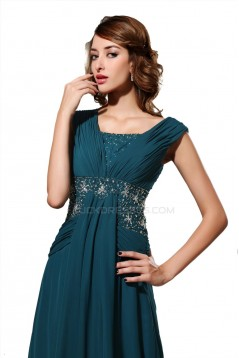 A-Line Beaded Long Chiffon Prom Evening Formal Party Dresses ED010489