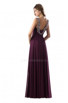 A-Line Beaded Long Chiffon Prom Evening Formal Party Dresses ED010490