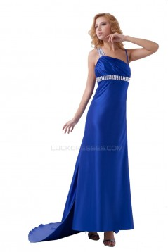 Beaded Long Blue Prom Evening Formal Party Dresses ED010506