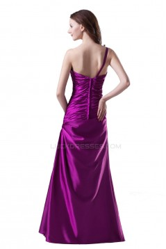 A-Line One-Shoulder Long Purple Prom Evening Formal Party Dresses ED010507