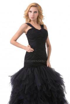 Trumpet/Mermaid Long Black Prom Evening Formal Party Dresses ED010510
