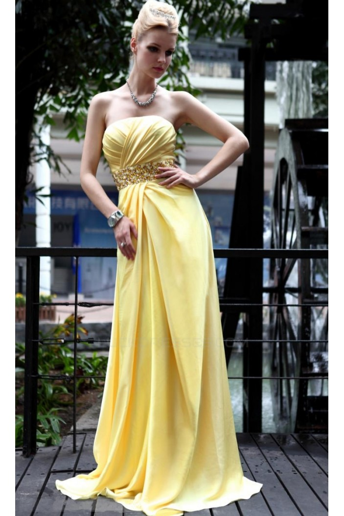Strapless Long Chiffon Prom Evening Formal Party Dresses ED010512