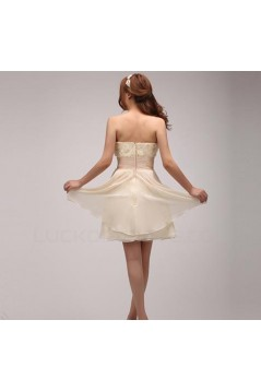 A-Line Strapless Short Chiffon Prom Evening Formal Party Dresses ED010530